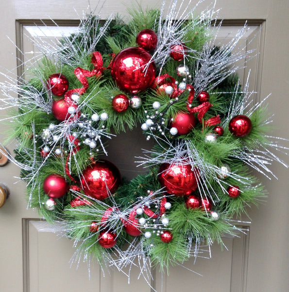 Glittering Holiday Wreath