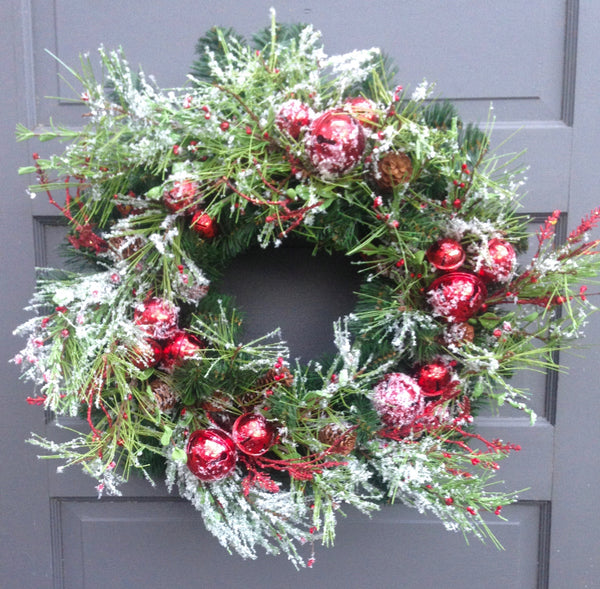 Snowy Jingle Bell Wreath