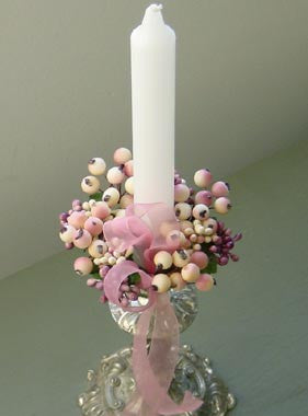 Mauve Berry Candle Ring