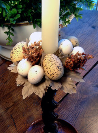 Easter Egg & Wheat Candle Ring