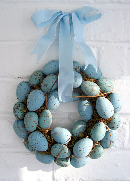 Small Blue Easter Egg Wreath
