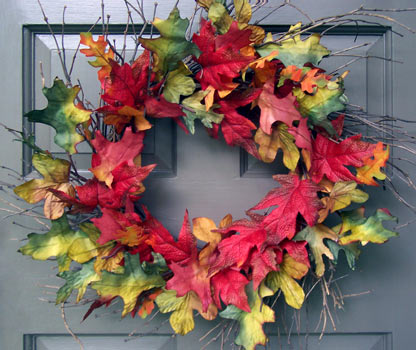 Fall Leaf & Twig Wreath