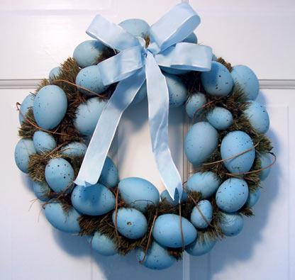 Blue Easter Egg Wreath