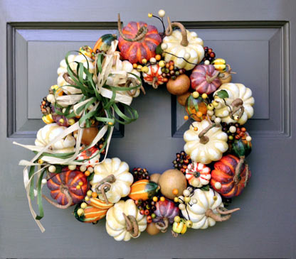 Natural Pumpkin Wreath-large