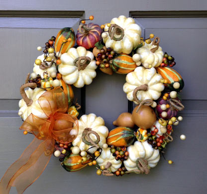 Natural Pumpkin Wreath-medium