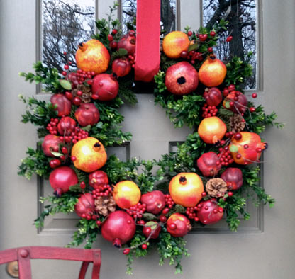 Festive Pomegranate Wreath