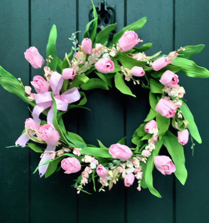 Prettiest Pink Tulip Wreath