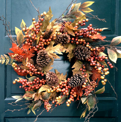 Fall Berry & Leaf Wreath