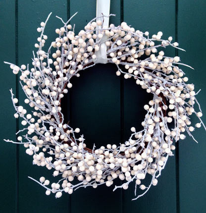 Lovely White Berry Wreath