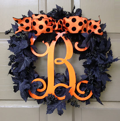 Monogram Fall & Halloween Wreath