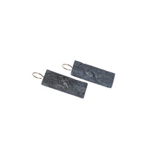 blak extra big rectangle earrings
