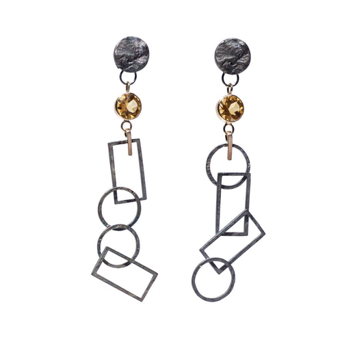 aurora geo earrings
