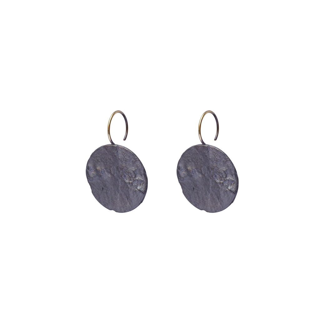 blak big circle earrings