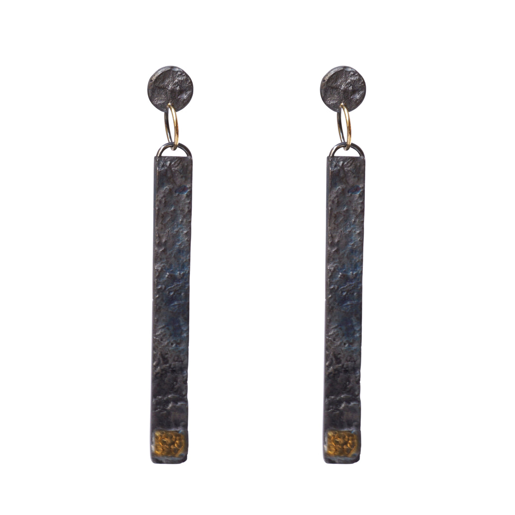 blak long earrings