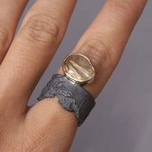 blak rutilated quartz ring 1