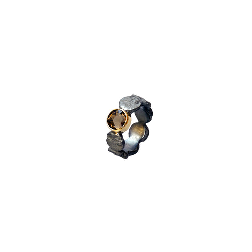 blak smoky quartz ring