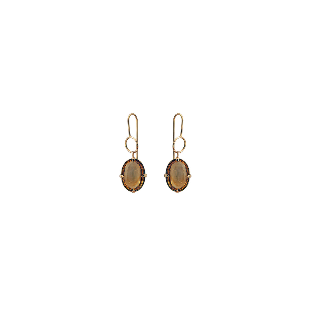 dust citrine earrings