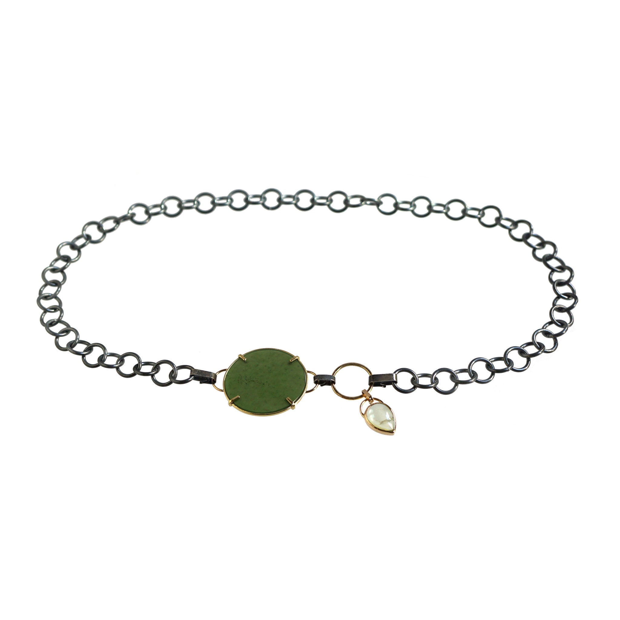 com necklace qvc chain pear on product gold jade shaped page pendant