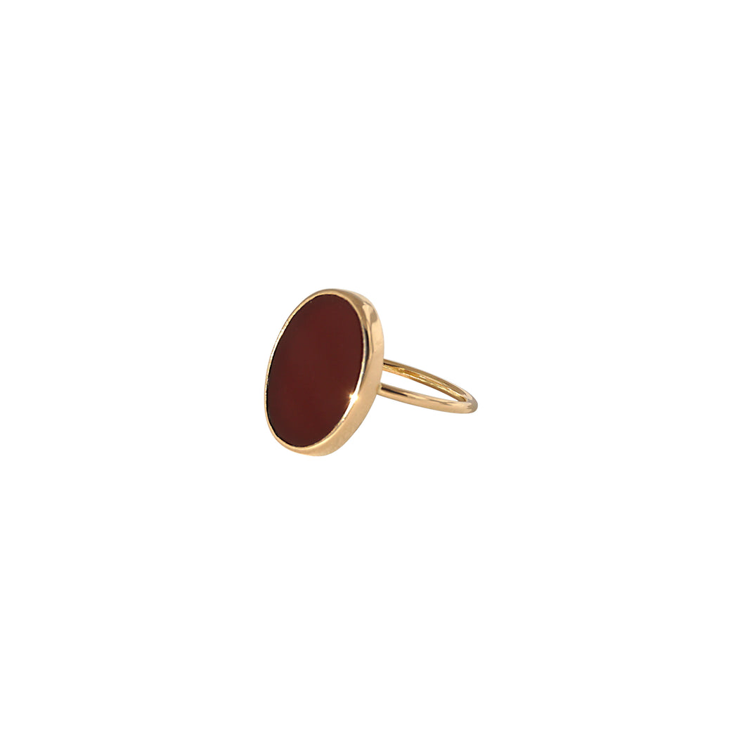 sade red pinkie ring