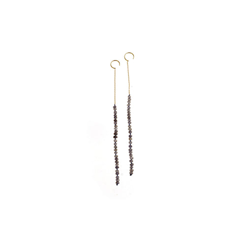 boho smoky long earrings