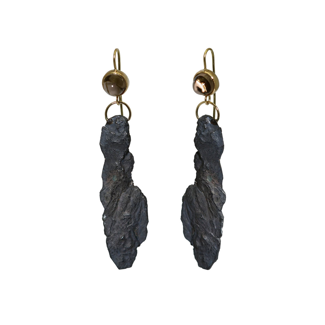aurora smoky earrings