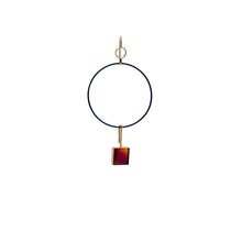 totem red horse square earring