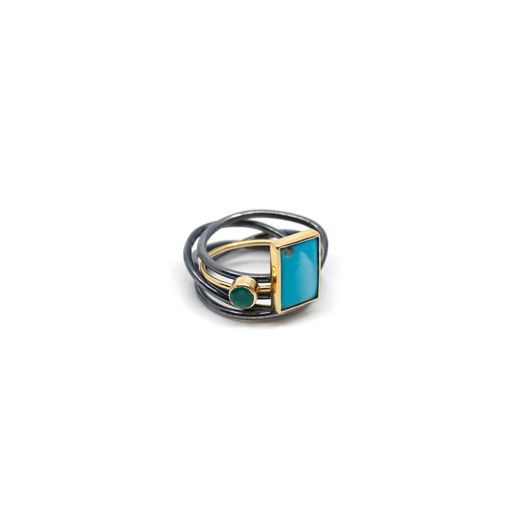 wild blue square ring