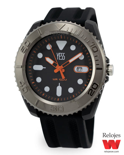 Reloj Yess Hombre YP07374L Negro