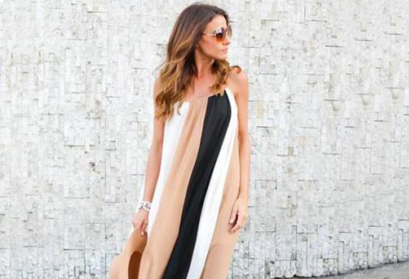 The trend: maxi dresses and stripes