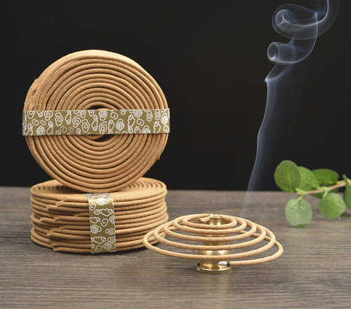 Natural incense coil