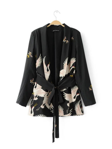 black kimono jackets for women