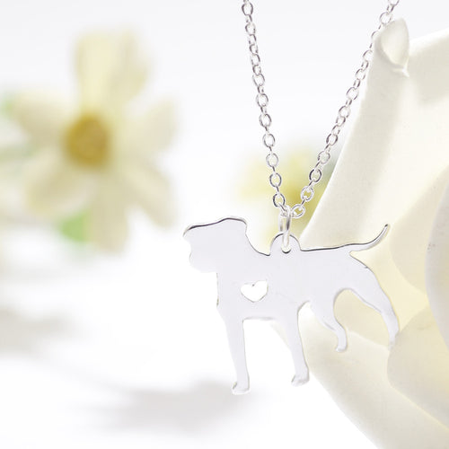 Small delicate pitbull necklace