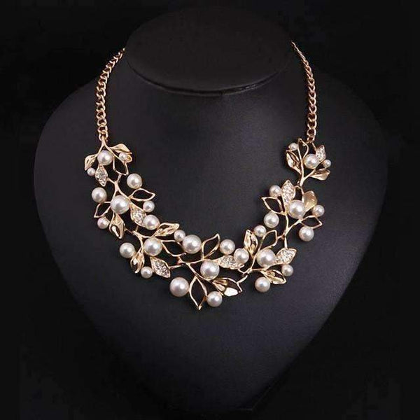 Pearl Leaves Necklaces- Viaz