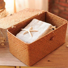 Storage Seagrass Baskets with Lids - NaturAmericas Market