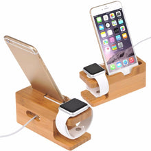 Bamboo Wood Charging Station Stand - NaturAmericas Market