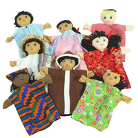 Children's Factory 8 Multi-Cultural Puppets - CF100-825