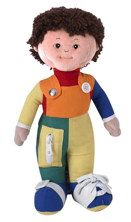 Children's Factory CF100-853 Learn to Dress Dolls - Hispanic Boy - The Creativity Institute