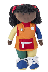 Children's Factory CF100-858 Learn to Dress Doll - Black Girl
