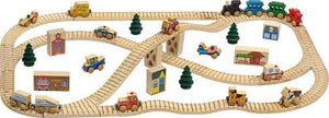 Maple Landmark Wooden Town Train Activity Set - 11240 - The Creativity Institute