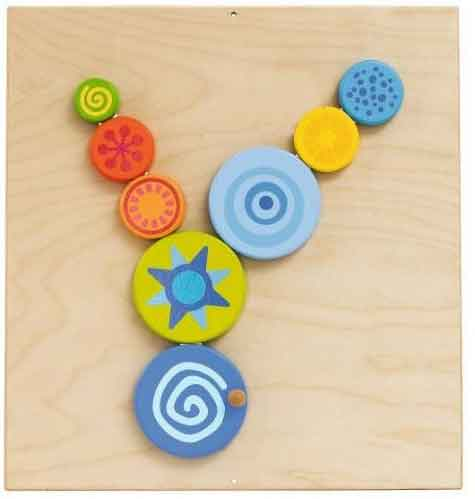 HABA Special Effects Turning Discs Sensory Wall Activity Panel