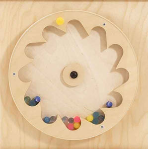 HABA Gear Wheel with Rubber Balls Wall Activity Panel - The Creativity Institute
