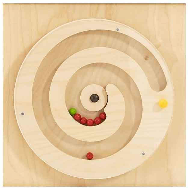 HABA Turning Spiral with Balls Wall Activity Panel