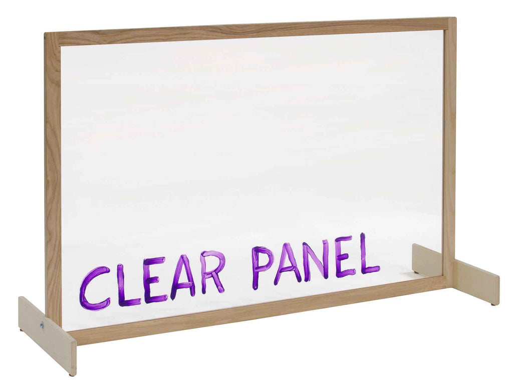 Angeles ANG1611 Clear Panel Room Divider