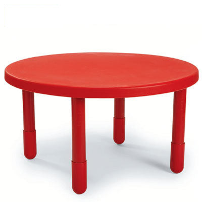 "Angeles 36"" Round Value Table 20"" Legs - Candy Apple Red"