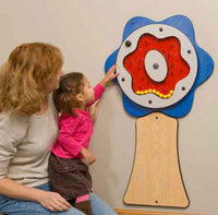 Children's Furniture Company Blue Plinko Flower Wall Activity - by Gressco
