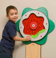 Children's Furniture Company Green Plinko Flower Wall Activity - by Gressco
