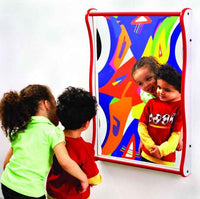 Gressco Large Giggle Mirror - Red on Speckletone - The Creativity Institute