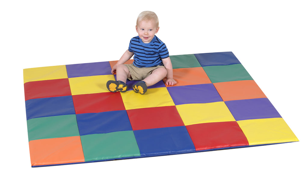 Children's Factory CF321-132 Patchwork Crawly Mat - Primary Color