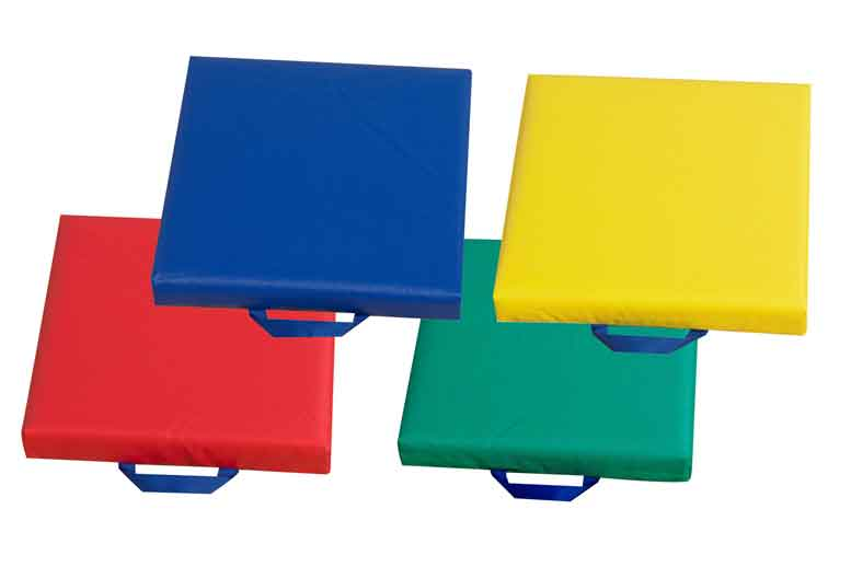 Children's Factory CF321-164 Square Floor Cushions with Handles Set of Four