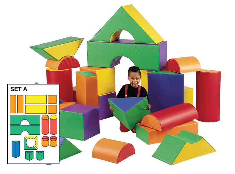 Children's Factory CF321-615 Big Blocks Set A - 21 Soft Module Blocks-SALE